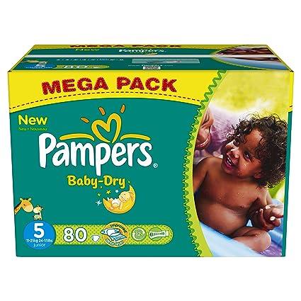 Pampers - Paquete de pañales (talla 5: 11-25 kg, 80 unidades