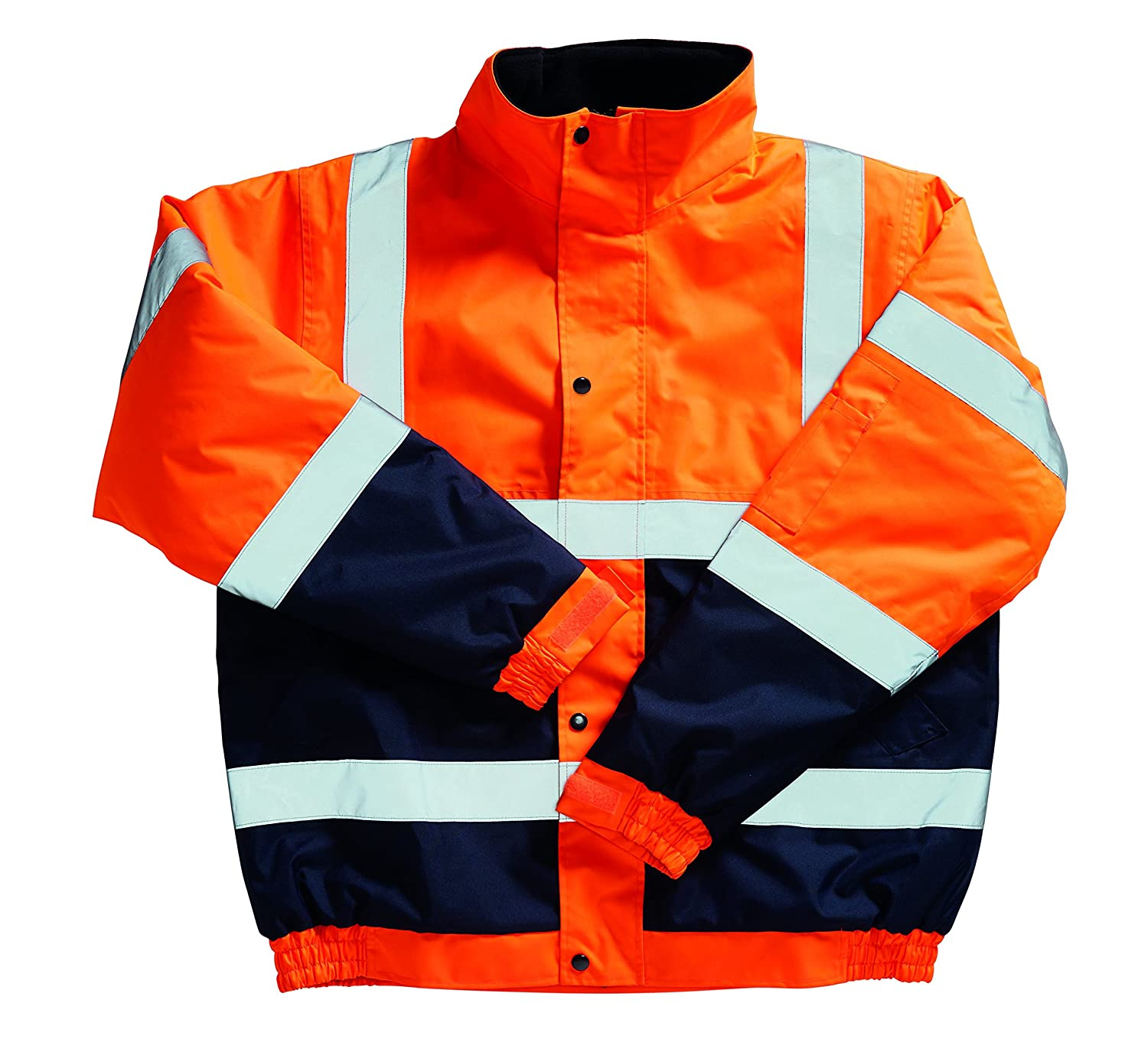 Blackrock 80026 Orange/Navy High Visibility Two Tone Bomber Jacket, EN20471, Class 3 8002606