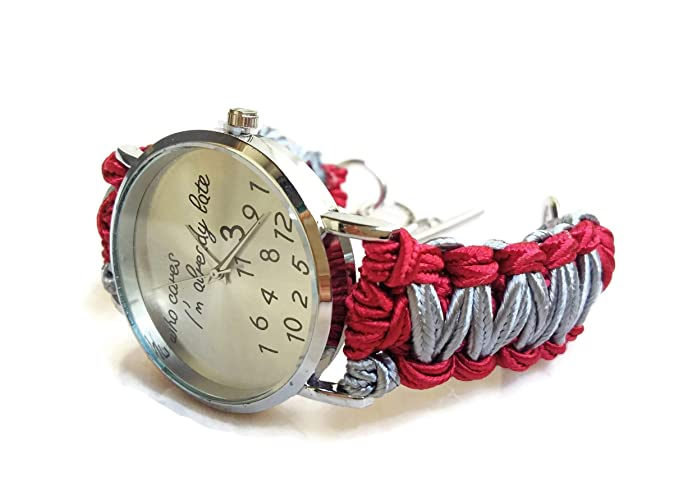 Steel Grey Ribbon Band Funny Wrist Watch Bracelet Woman Humorous Birthday Gift For Friend Sister
