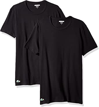 Lacoste Men's Cotton Stretch Crew-Neck T-Shirt (Pack of Two)