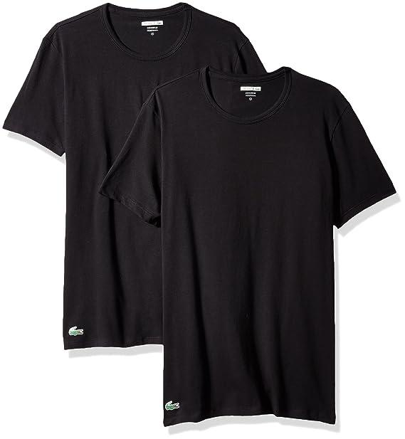 szeroki wybór gdzie kupić dostępność w Wielkiej Brytanii Lacoste Men's 2-Pack Colours Cotton Stretch Crew T-Shirt