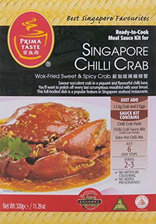 Prima Taste   Ready To Cook Sauce Kit For Singapore Chilli Crab 320g