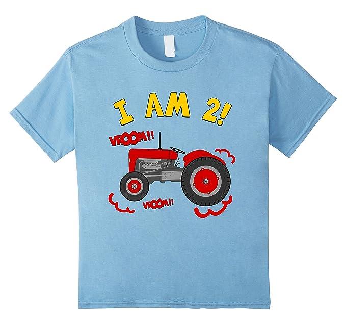 Kids 2nd Birthday Tractor T Shirt 2 Year Farm Tee 4 Baby