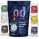 Polydoh Moldable Plastic + Coloring granules - Various Sizes - 6oz. Melts in hot Water. Durable Hand moldable Plastic for DYI