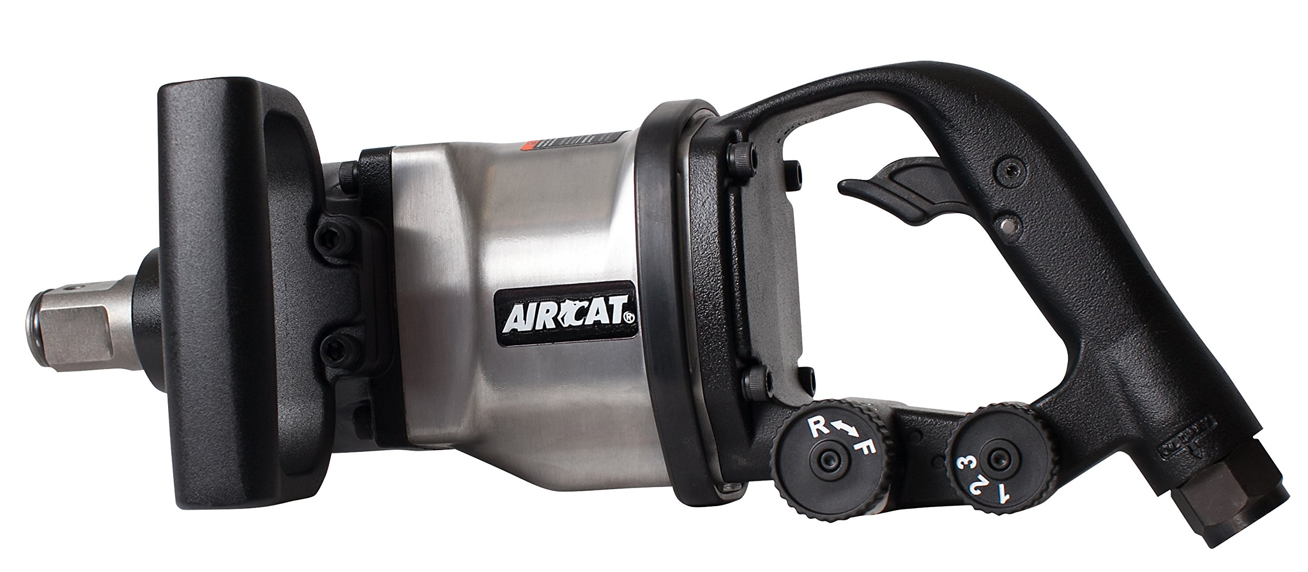 AIRCAT 1891-1 Low Weight Impact Wrench, 1'' Drive 12.9'' Long, Silver & Black