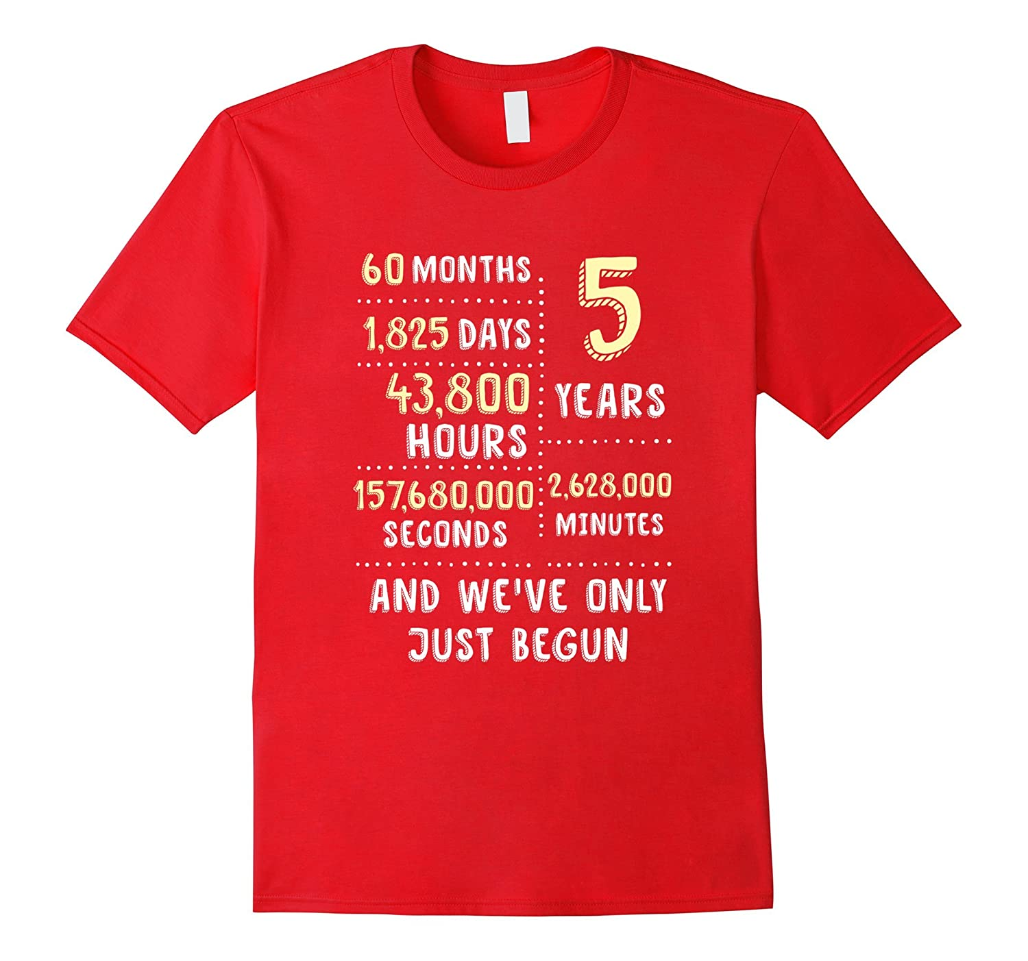 5 Year Anniversary T-Shirt / Cute Gift for Her or Him-TH