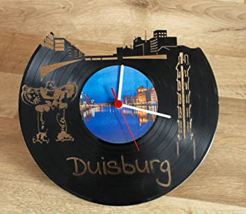 Gravincide Schallplatten Wanduhr Duisburg Innenhafen Amazonde