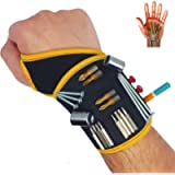 BinyaTools Magnetic Wristband -Black- With Super Strong Magnets Holds Screws, Nails, Drill Bit. Unique Wrist Support…
