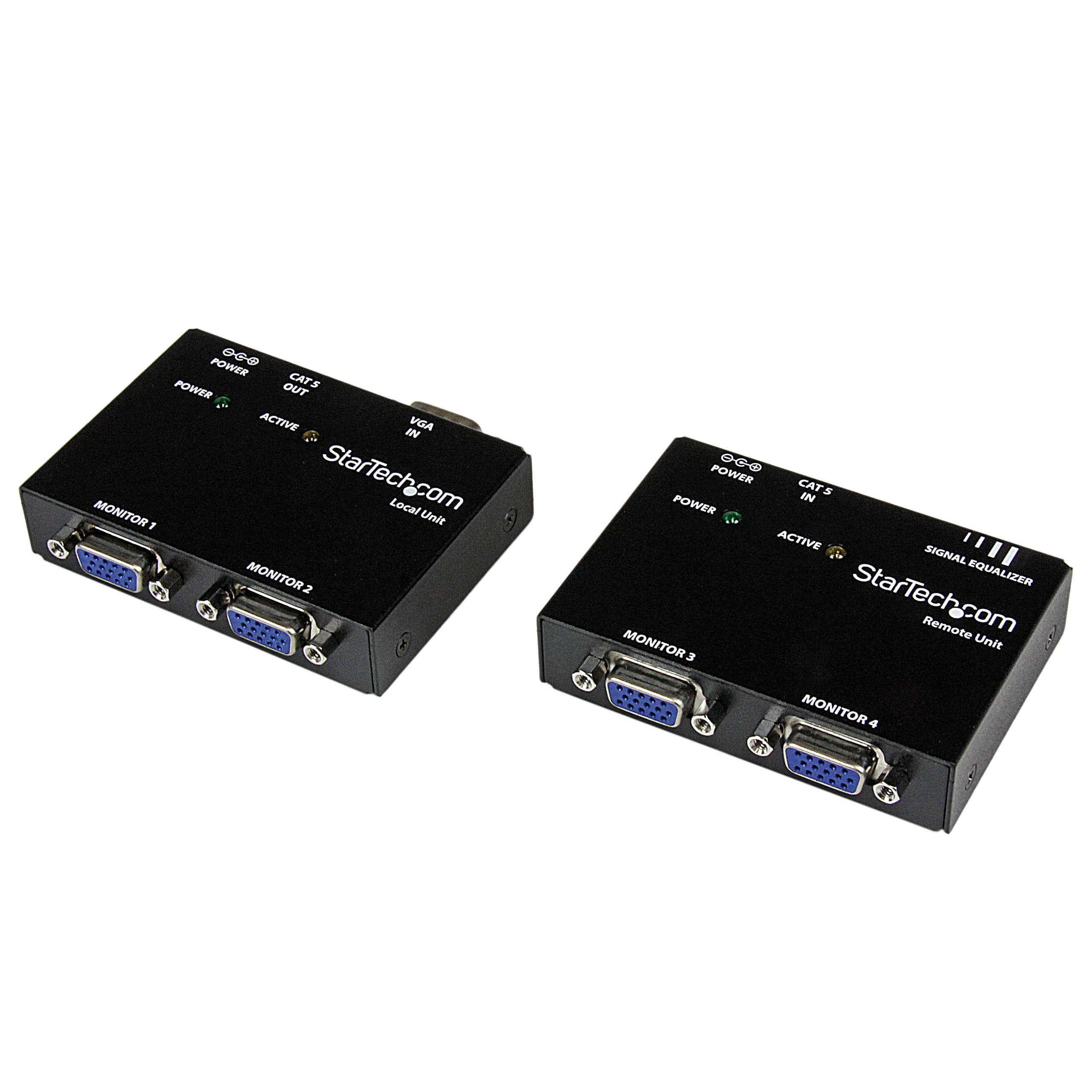 StarTech.com VGA Video Extender over Cat5 ST121 Series - Up to 500 feet - 150m - VGA over Cat 5 Extender - 2 Local and 2 Remote