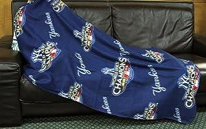 Northwest MLB New York Yankees 2009 World Series Champions Fleece Throw Blanket