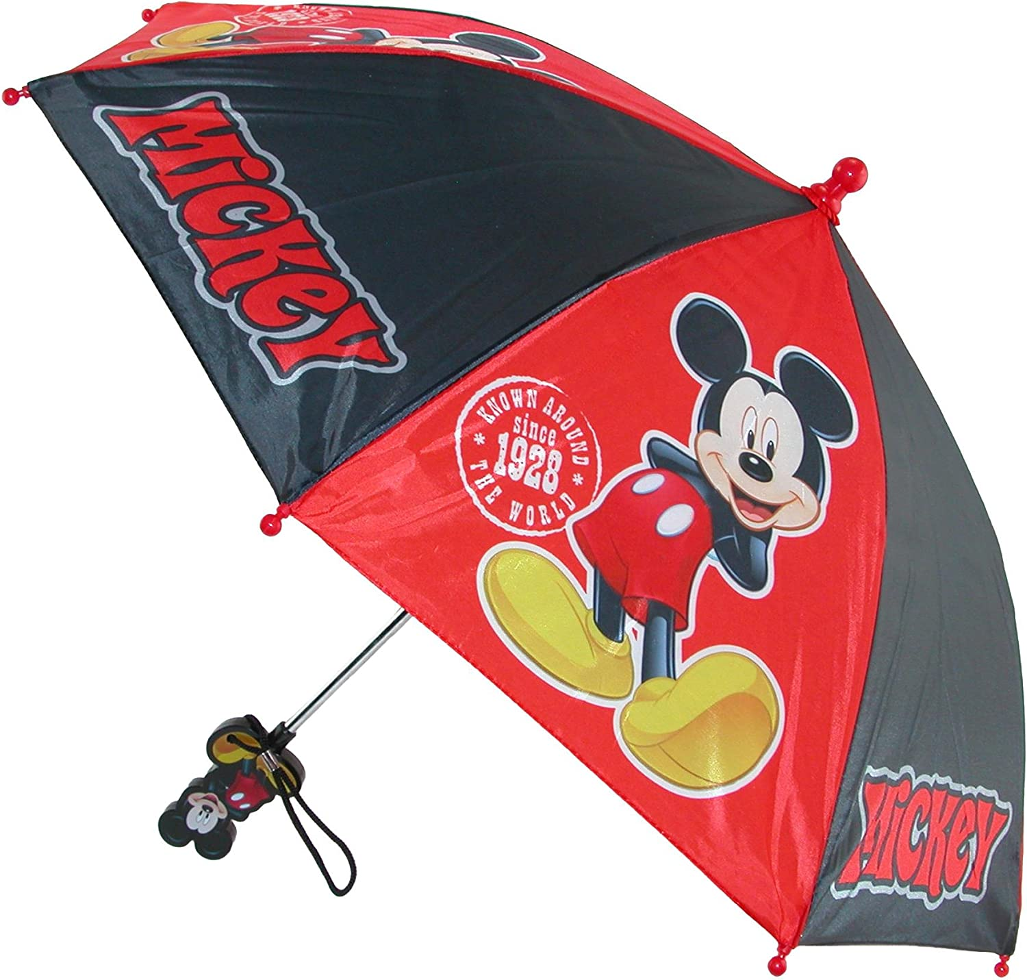 Toddler Disney Mickey Mouse Red and Black Boys Umbrella