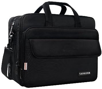Taygeer - Bolso para ordenador portátil de 17 pulgadas,bolsa de mensajero expansible para computadora