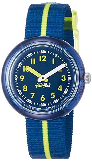 Flik Flak Reloj Analogico para niñas de Cuarzo con Correa en Tela FPNP023: Amazon.es: Relojes