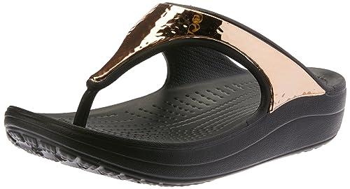 Crocs Sloane HammeROT Metallic Flips W  Amazon &   Sport & Amazon Freizeit c0bdb2