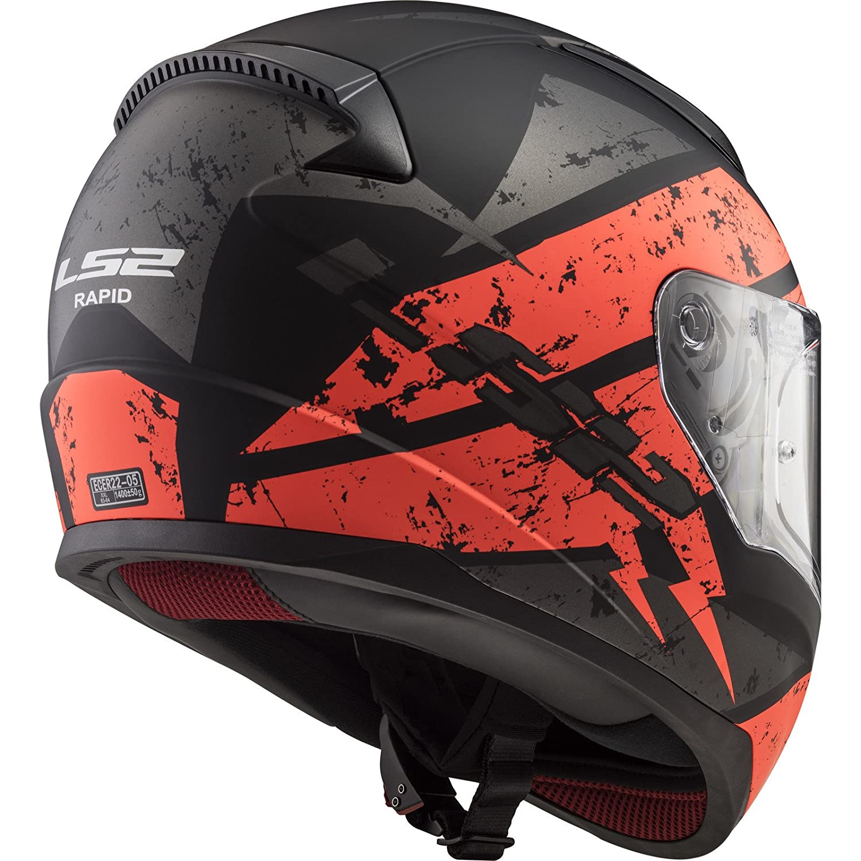 103532426XXL LS2 FF353 Rapid Deadbolt Motorcycle Helmet XXL Matt Black Blue