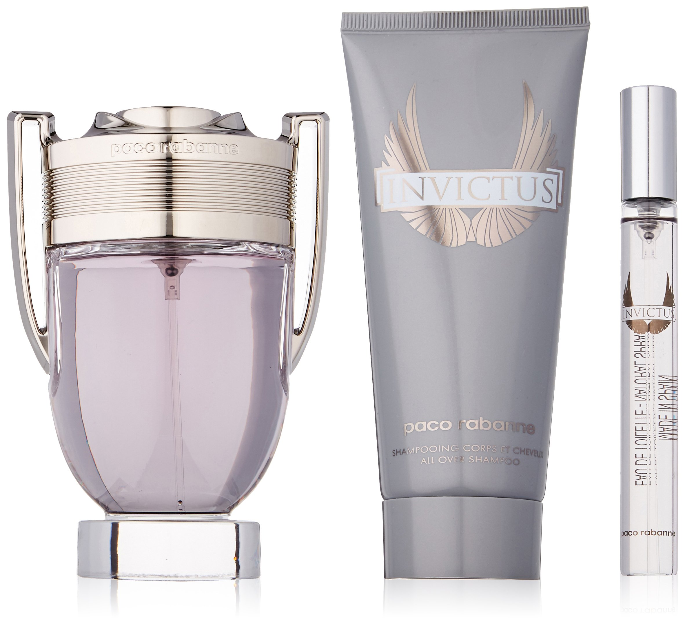 Amazoncom Paco Rabanne Invictus For Men 3 Piece Gift Set 34