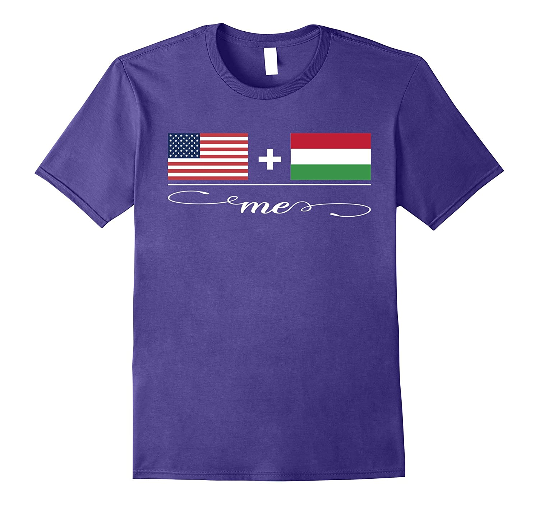 American  Hungarian  Me Flag T-Shirt-Vaci