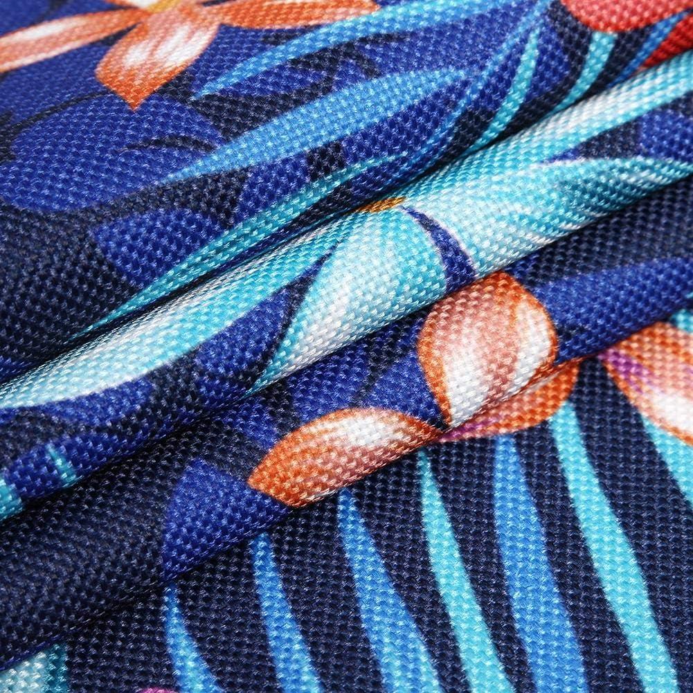 Demiawaking Runner da Tavolo Moderno Stampa Foglie Tropicali in Cotone con Nappe Runner Decorativo da Tavolo Runner Tavola Decorazione per Feste Matrimonio Stile 1