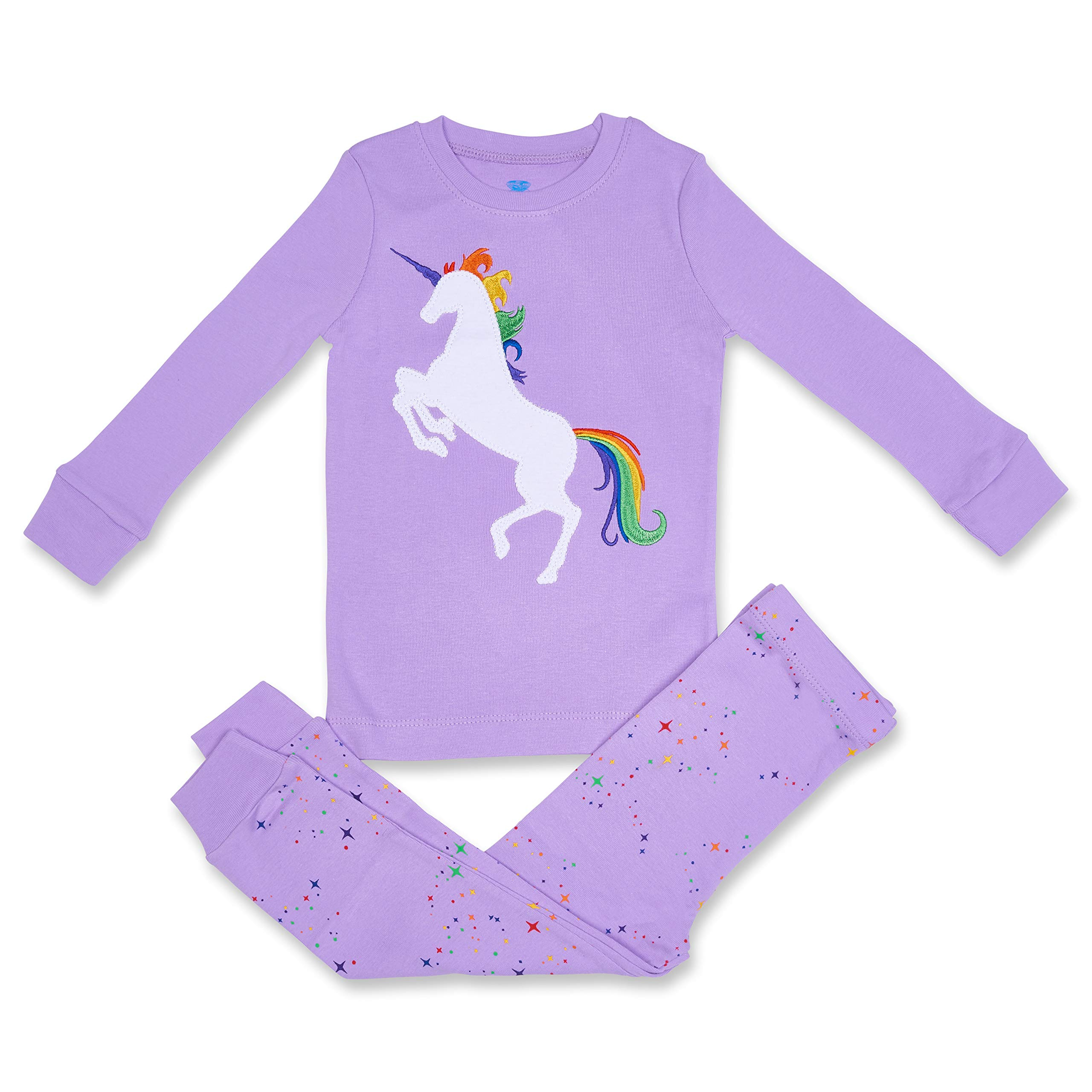Girls Pajamas Unicorn Pegasus Lips 2 Piece 100% Super Soft Cotton (12m-8y)