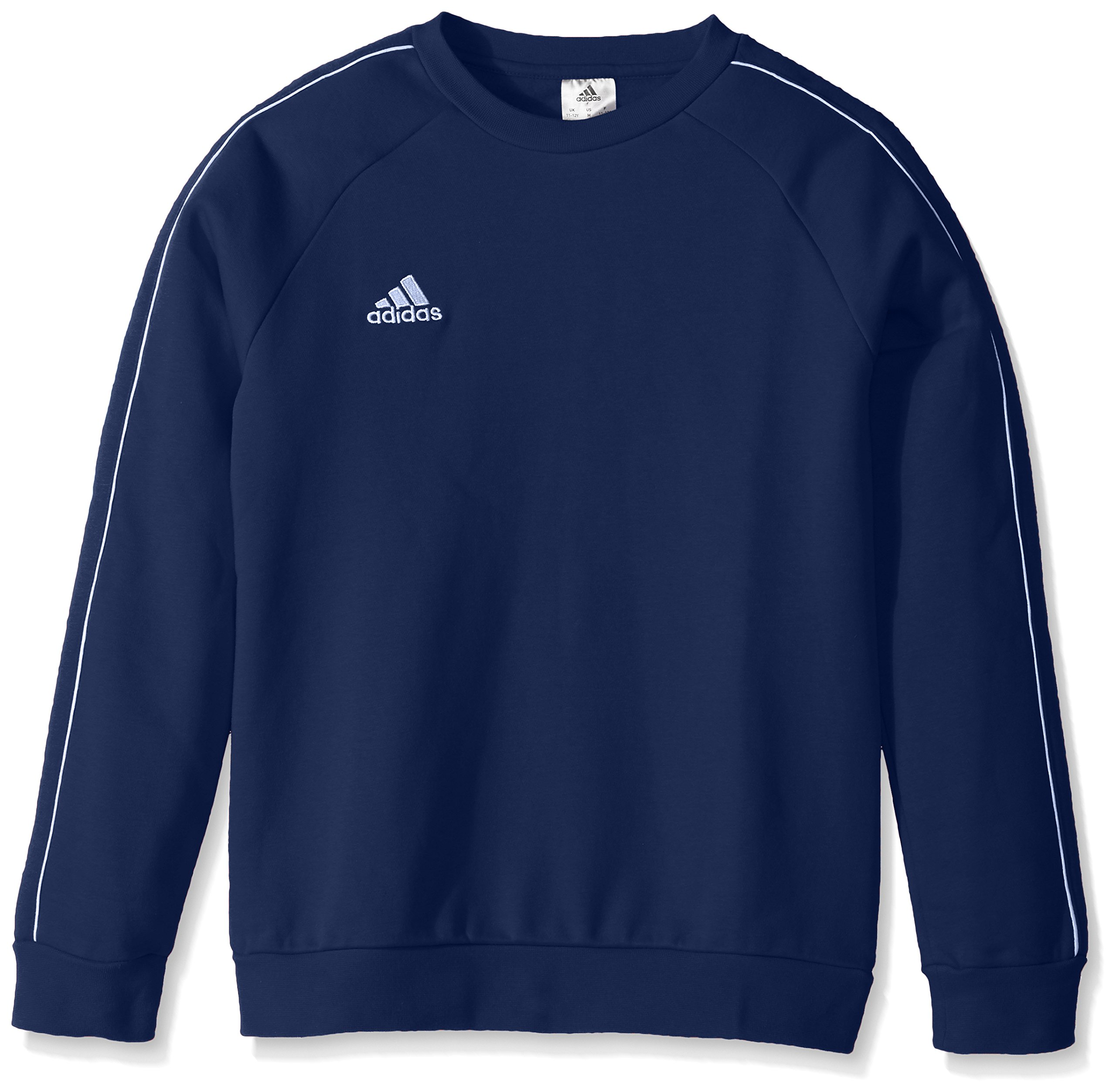 adidas Unisex Youth Soccer Core18 Sweat Top, Dark Blue/White, X-Large by adidas