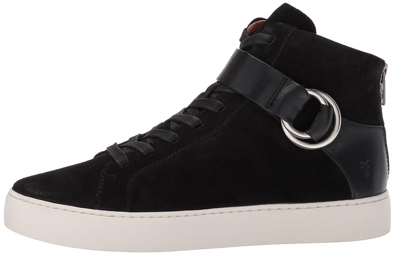 FRYE Women's Lena Harness High Fashion Sneaker B01N4GFHD9 8 B(M) US Black Soft Oiled Suede