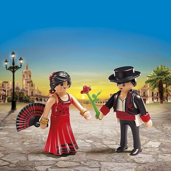 PLAYMOBIL MARIAGE danseurs flamenco couple espagnol sujets pièce montée