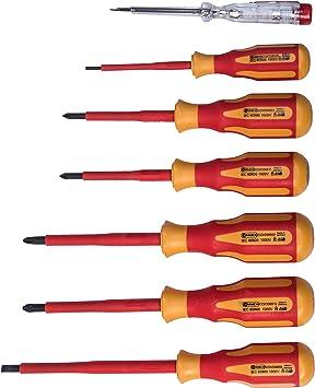2-Komponenten-Griffe Connex COX336207 Elektriker-Schraubendreher-Satz VDE 7...