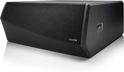 Denon DSW-1H Wireless Subwoofer for DHT-S716H Premium Home Theater Soundbar System Built-in Heos Quick and Easy Setup Black