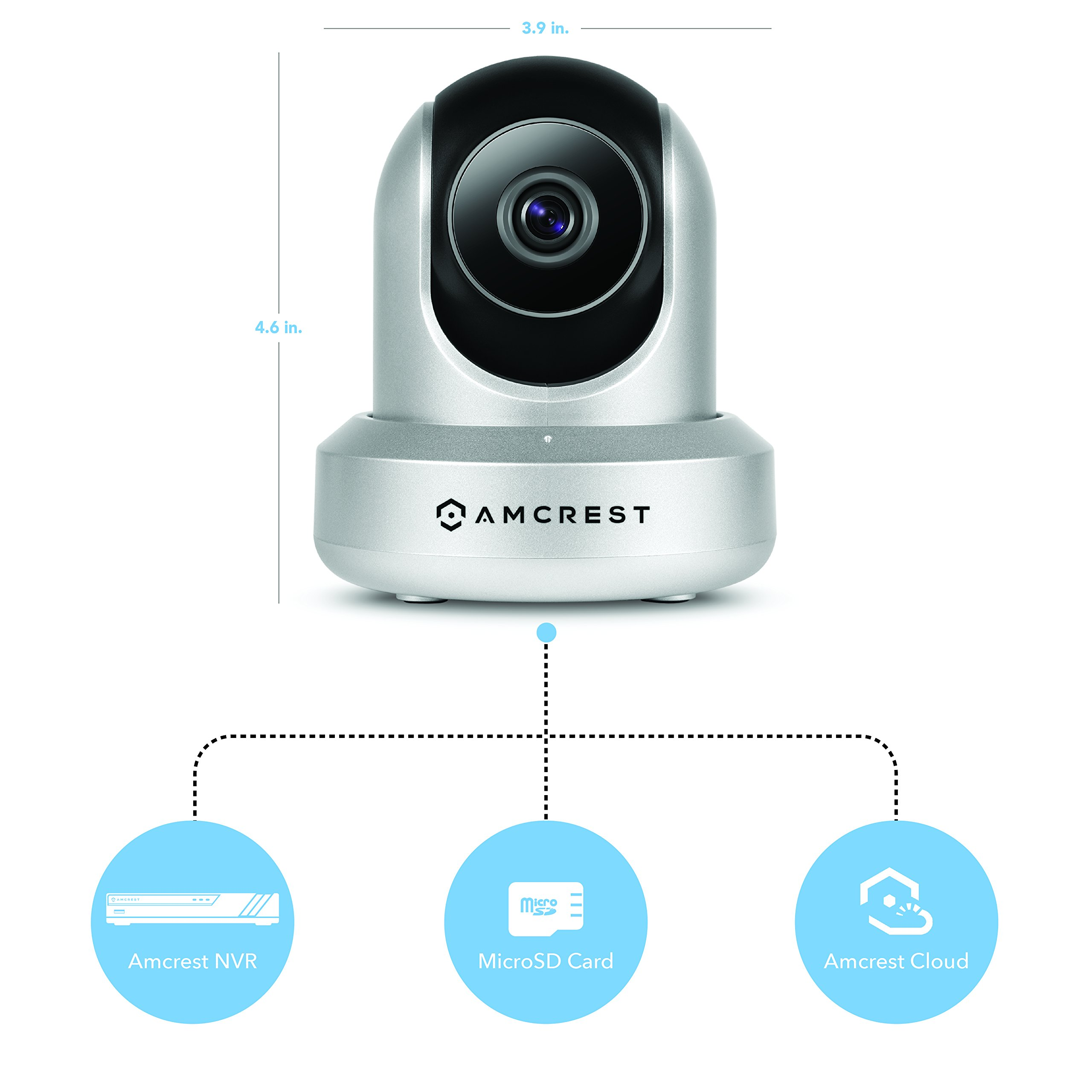 Amcrest HDSeries 720P POE (Power Over Ethernet) IP Security Surveillance Camera System IPM-721ES (Silver) (Certified Refurbished) by Amcrest (Image #1)