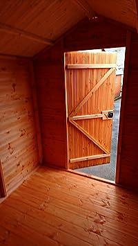 pinelap 4 x 4 calidad totalmente T & G Euro de madera Apex Garden Shed (madera) de alta calidad: Amazon.es: Jardín