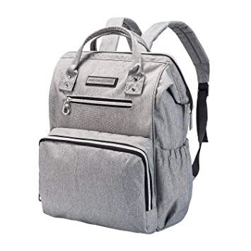 12babe635d63 Amazon.com   Diaper Bag Backpack for Mom or Dad with Stroller Straps ...