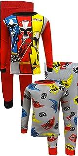 Power Rangers Ninja Steel Unleash The Power 2 Big Boys Cotton Pajama Sleepwear Sets