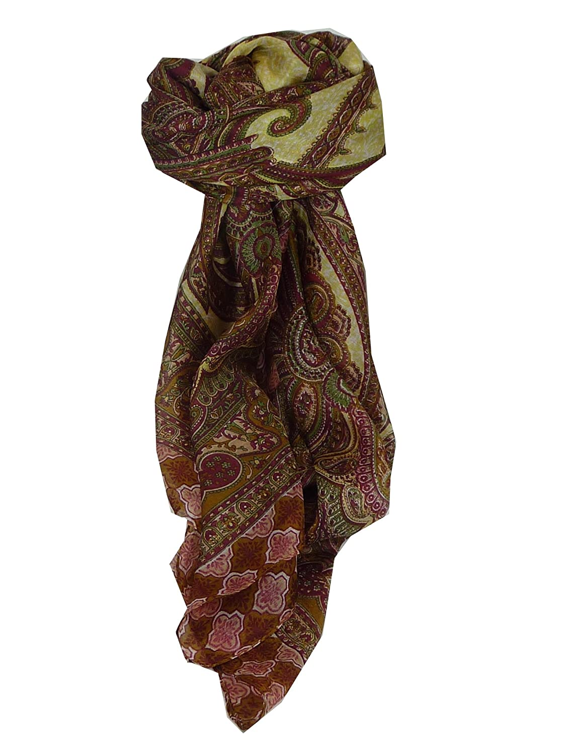 Bibi Square Caramel Traditional Silk Scarf by Pashmina & Silk