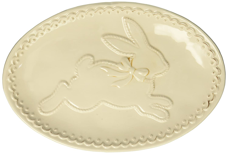 Burton and Burton Raised Easter Bunny Serving Platter, Cream, 11