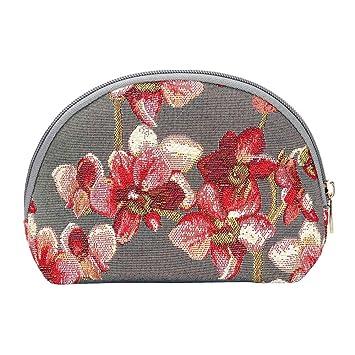 Amazon.com: Bolsa de maquillaje orquídea de Signare/floral ...