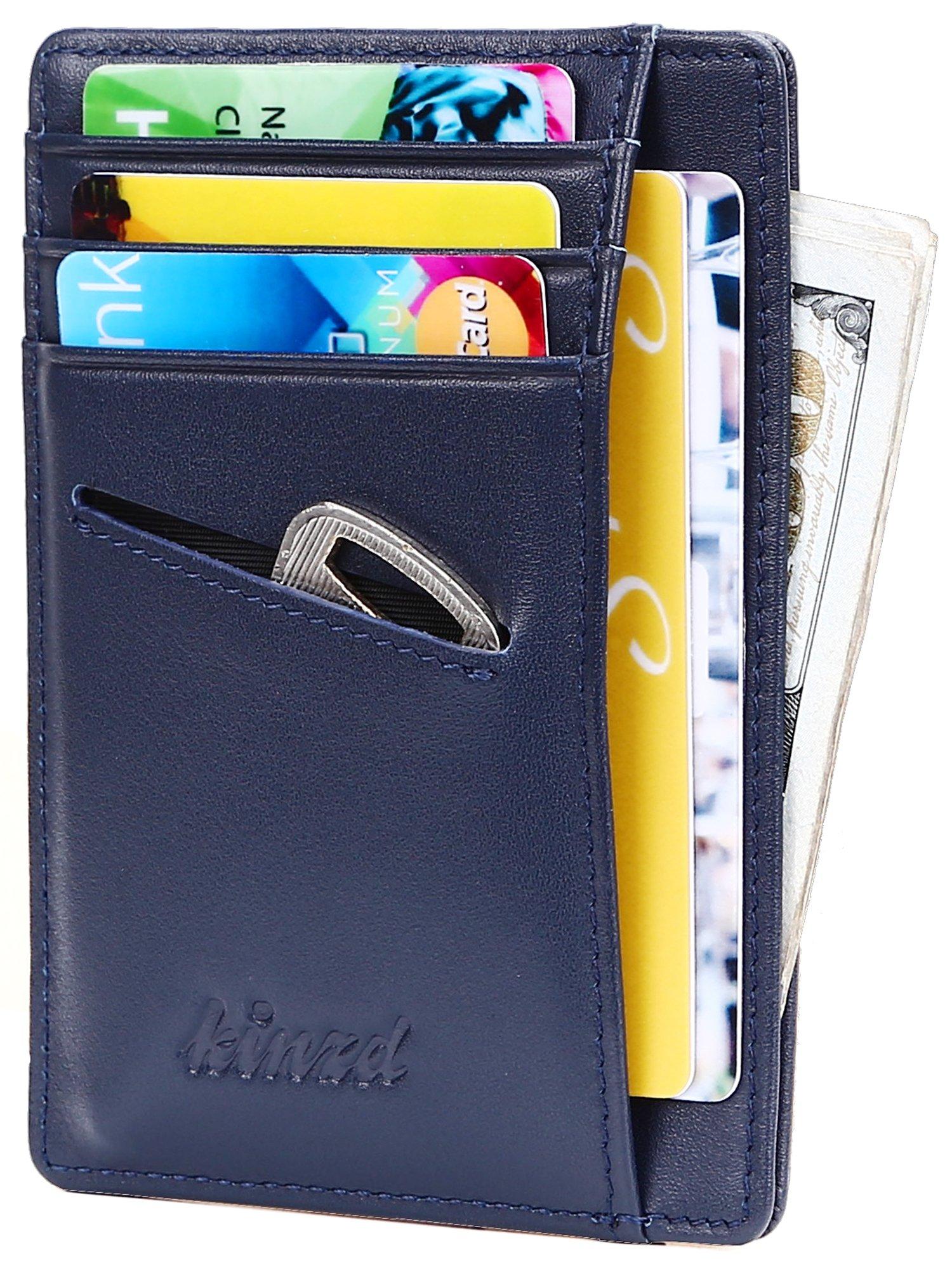 f39a19592ee8 Slim Wallet RFID Front Pocket Wallet Minimalist Secure Thin Credit Card  Holder
