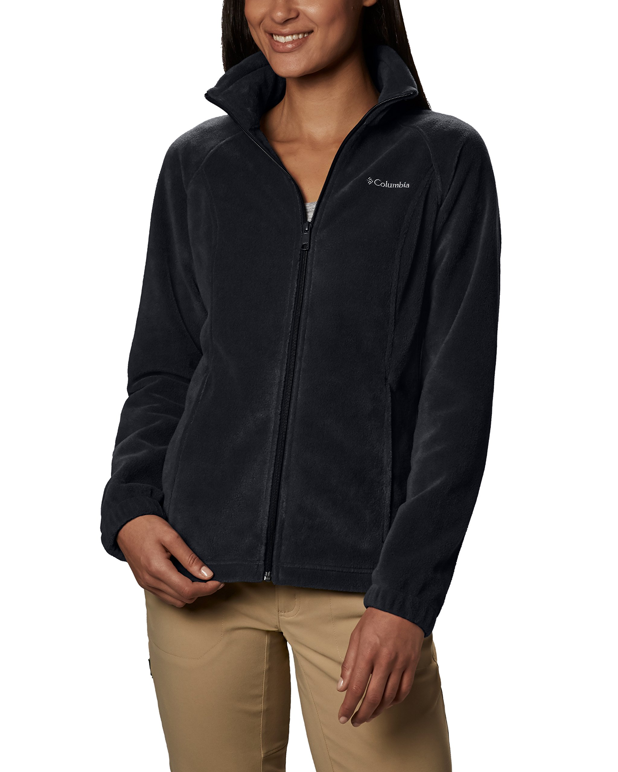 Columbia Women's Benton Springs Classic Fit Full Zip Soft Fleece Jacket, black, M