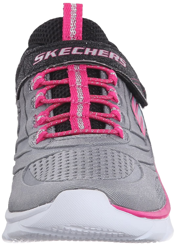 Skechers Swirly Girl - Shine Vibe, Chaussures de Sport Fille - - BKNP, 28 EU