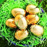 Fun Express Golden Metallic Eggs for Easter (12 Piece Pack) Party Supplies, Easter Basket Stuffers