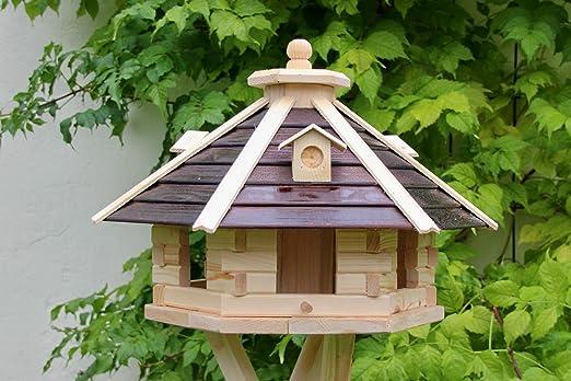 Casa de pájaros de madera decorativa tipo 20 (marrón/natural).: Amazon.es: Jardín