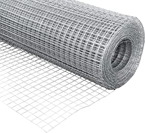 PS Direct Hardware Cloth - 48 Inch x 100 Foot Multipurpose Galvanized Mesh – 1/2 Inch Square Openings, Great for Chicken Coop, Gutter Guard, Animal Control and Garden Use, 19 Gauge, 1 Roll