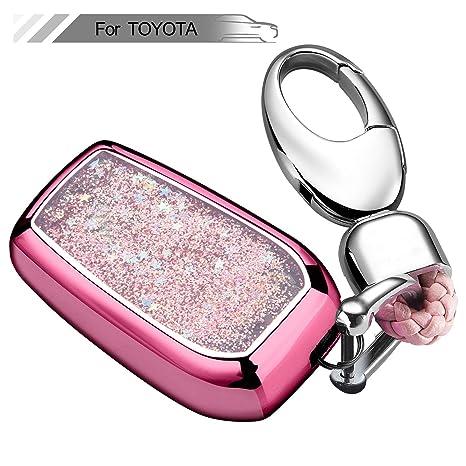 Amazon.com: RYE - Funda para llave con purpurina líquida de ...