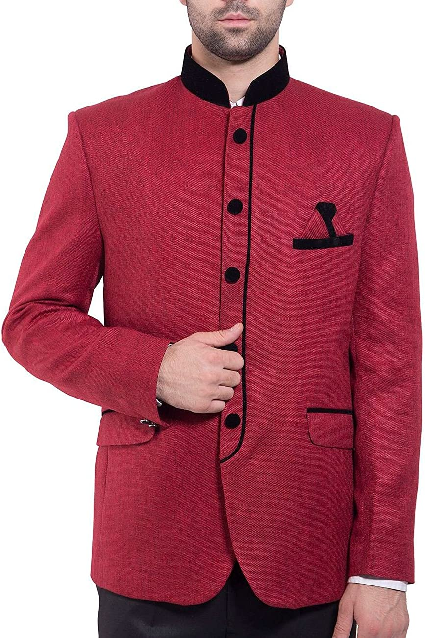 WINTAGE Men's Rayon Cotton Bandhgala Festive Nehru Mandarin Blazer- Twenty Colors