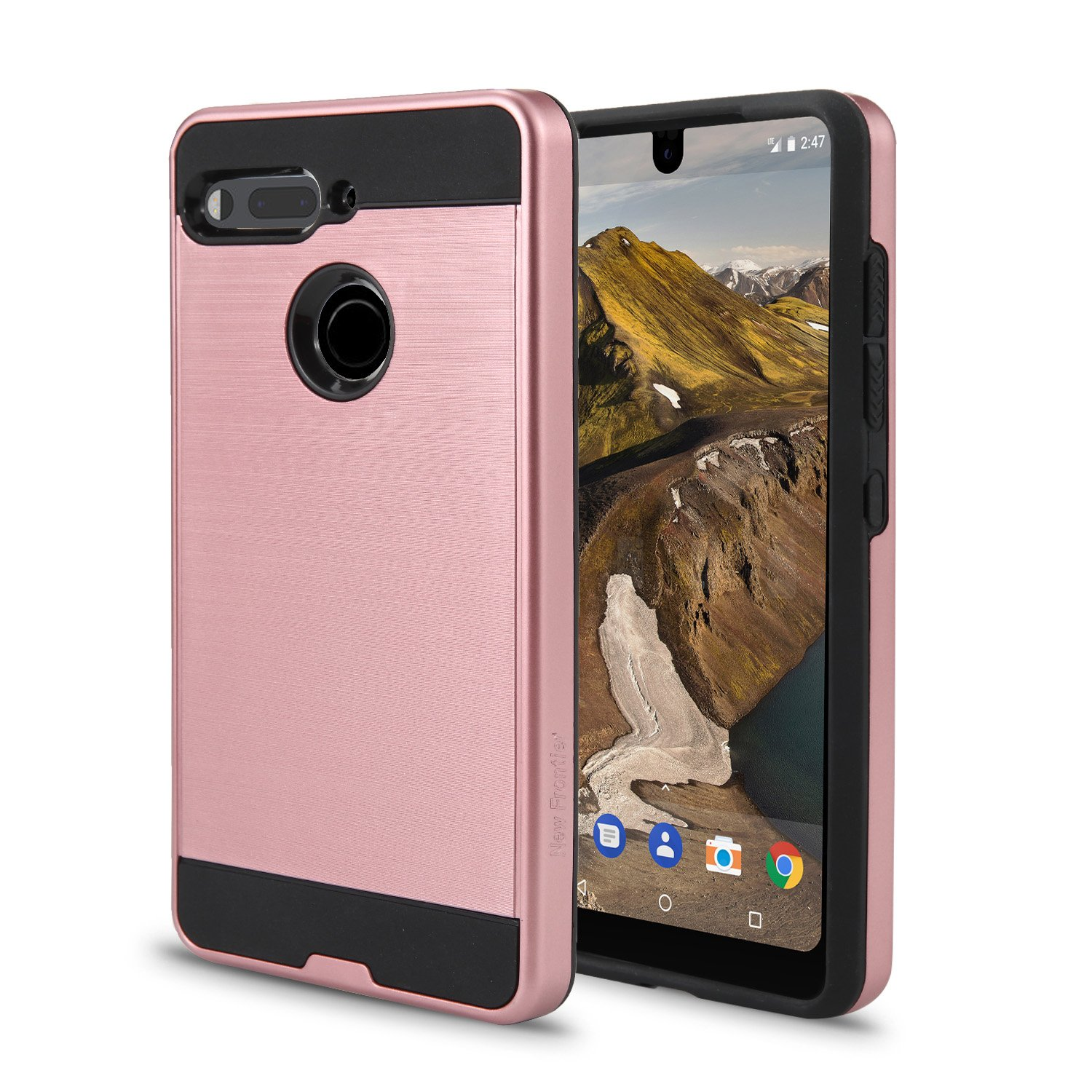 Essential Phone PH-1 Case, Slim Armor Hybrid Cover [Scratch/Dust Proof] Defender Dual Layer Shockproof Protection Case (VGC Silver)