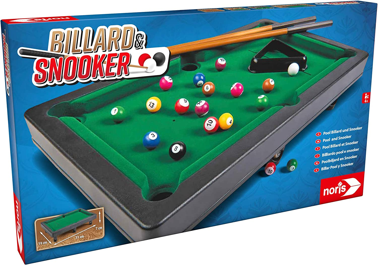 noris Pool Billiard & Snooker-Aktionsspiel für Die ganze Familie ...