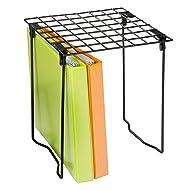 Honey-Can-Do SHF-03494 Freestanding Folding Locker Shelf, 11 by 9.25 by 12.75-Inch, Black