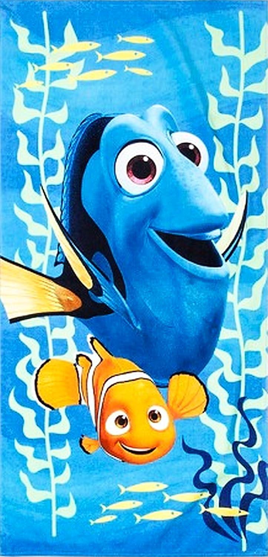 Finding Dory Nemo Beach Towel 120 x 70cm Kids Swimming Boys Girls 100/% Cotton