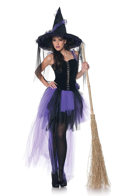 MCS Sexy Burlesque Hexe Halloween-Damenkostüm schwarz-lila L