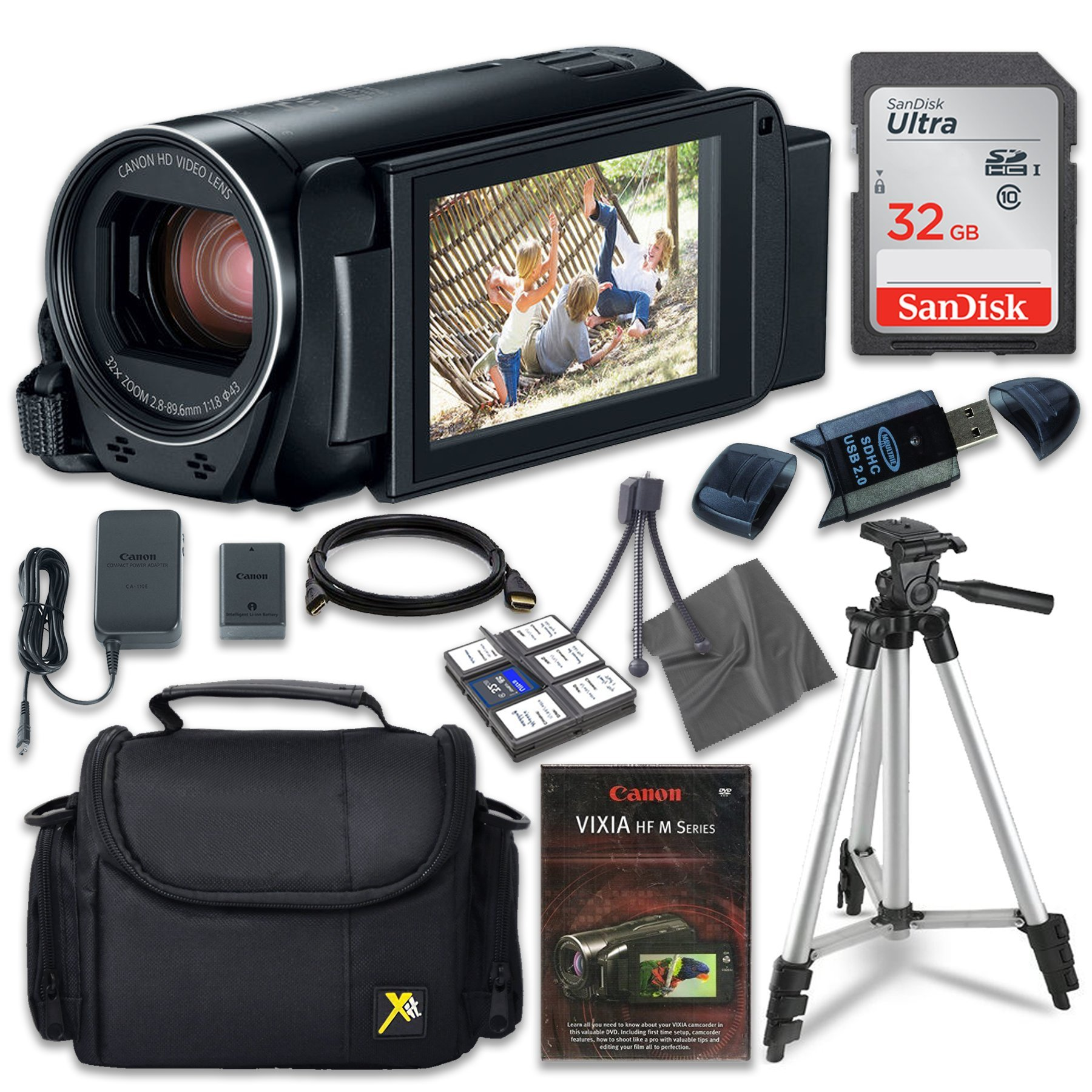 Canon VIXIA HF R800 Camcorder with Sandisk 32 GB SD Memory Card + Extra Accessory Bundle by Canon