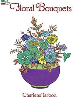Floral Bouquets Coloring Book Dover Nature
